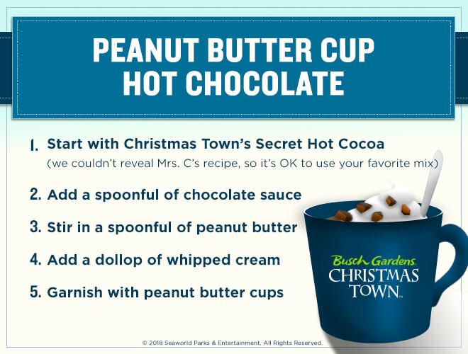 Peanut Butter Cup hot cocolate recipe
