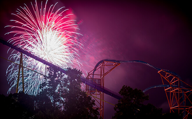Join us for 4th of July fireworks at Busch Gardens in Virginia