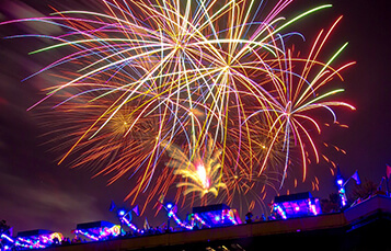 4th of July fireworks at Busch Gardens in Virginia