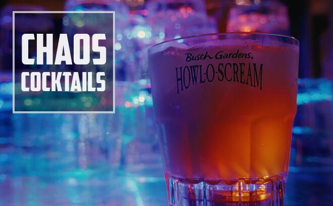 Chaos Cocktails bar at Howl-O-Scream