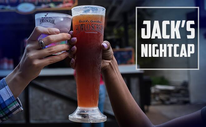 Jack's Nightcap Halloween bar at Busch Gardens in Virginia