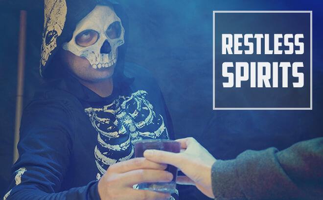 Restless Spirits bar at Halloween event Howl-O-Scream