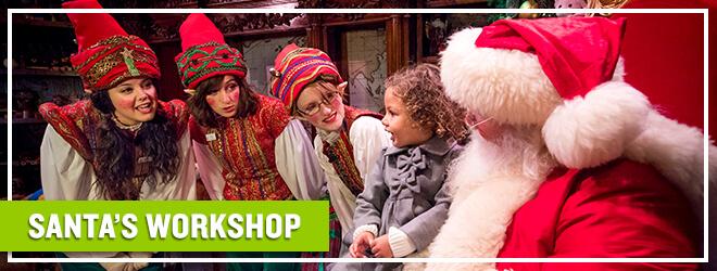 Meet Santa and take photos at Santa's Workshop