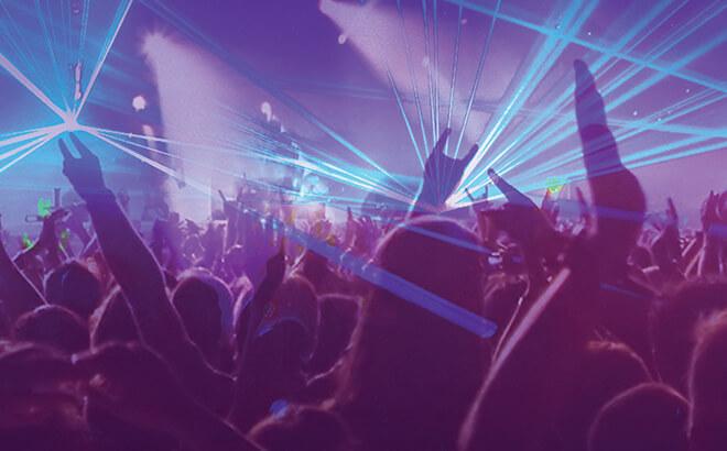Spark, laser light show