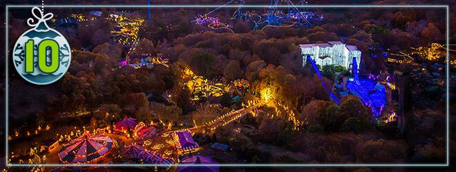 Busch Gardens Christmas Town has one of the largest Christmas light displays in North America