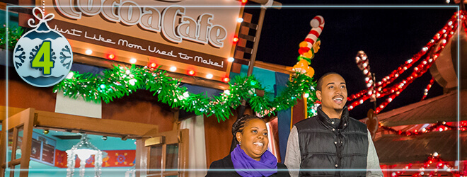 Try our signature hot chocolate at select locations around Busch Gardens Christmas Town
