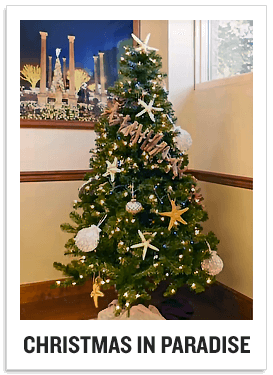 Decorate your Christmas tree with a calming beach theme