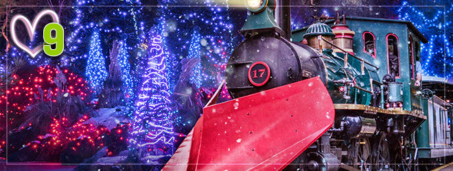 Christmas Town Express lighted holiday train experience