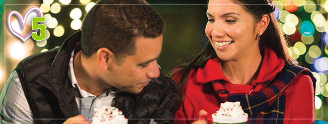 Enjoy our signature hot chocolate at Christmas Town