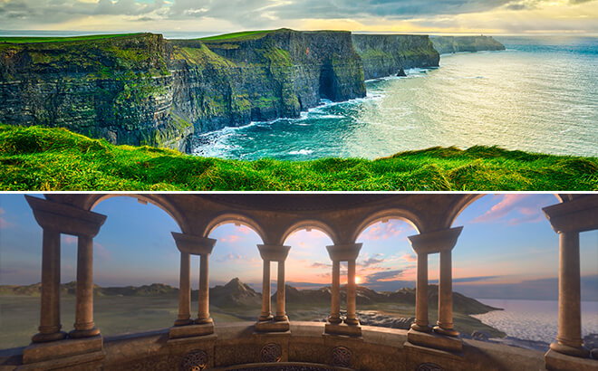 Cliffs of Moher in Ireland vs. Battle For Eire
