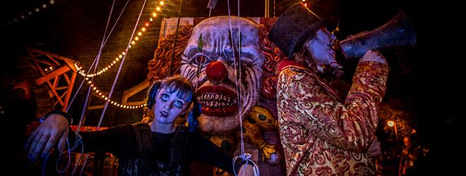Halloween scare zones at Busch Gardens Williamsburg in Virginia