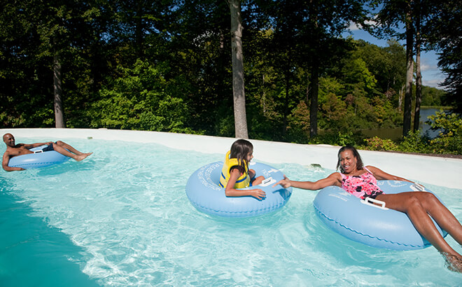 Lazy river attraction at Water Country USA