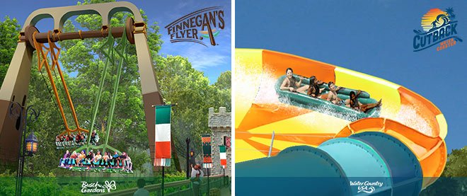 New thrill rides are coming to Busch Gardens Williamsburg & Water Country USA