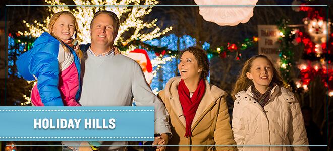 Retro Santas in Holiday Hills at Christmas Town