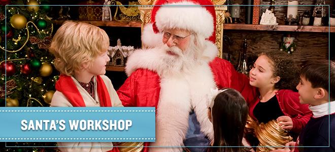 Take photos with Santa Claus at Santa's Workshop