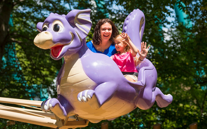 Land of the Dragons kid play area and attraction
