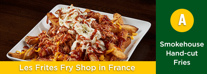 Smokehouse BBQ fresh-cut fries from Les Frites Fry Shop at Busch Gardens