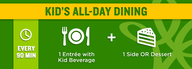 Kid's All-Day Dining deal at Busch Gardens Williamsburg