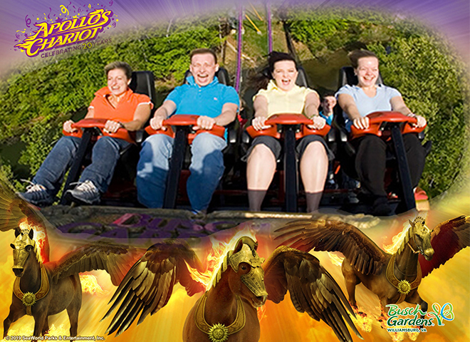 Riders on Apollo's Chariot with a 20th birthday photo frame