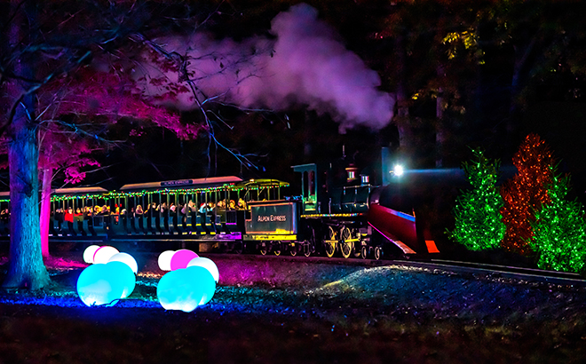 Christmas Town Express during Christmas Town at Busch Gardens Williamsburg
