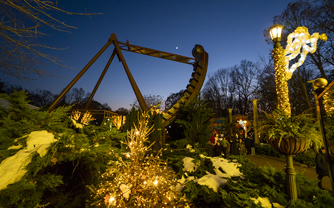 Italy Gardens during Christmas Town at Busch Gardens Williamsburg