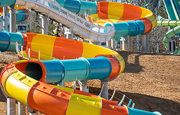 Construction progress update - March 2019 Finnegan's Flyer and Cutback Water Coaster - two all new attractions coming to Busch Gardens Williamsburg and Water Country USA, May 2019!