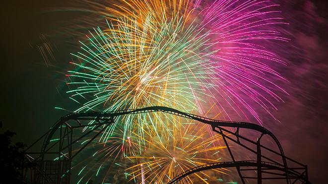 Fireworks at Busch Gardens Williamsburg