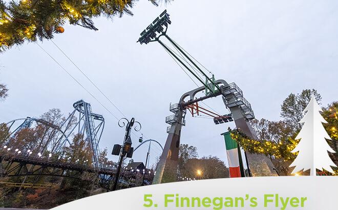 Busch Gardens Williambsburg Finnegans Flyer Ride During Christmas town