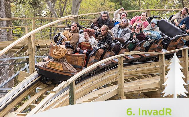 Busch Gardens Williamsburg invadR wooden Rollercoaster