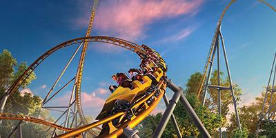 Pantheon roller coaster at Busch Gardens Williamsburg