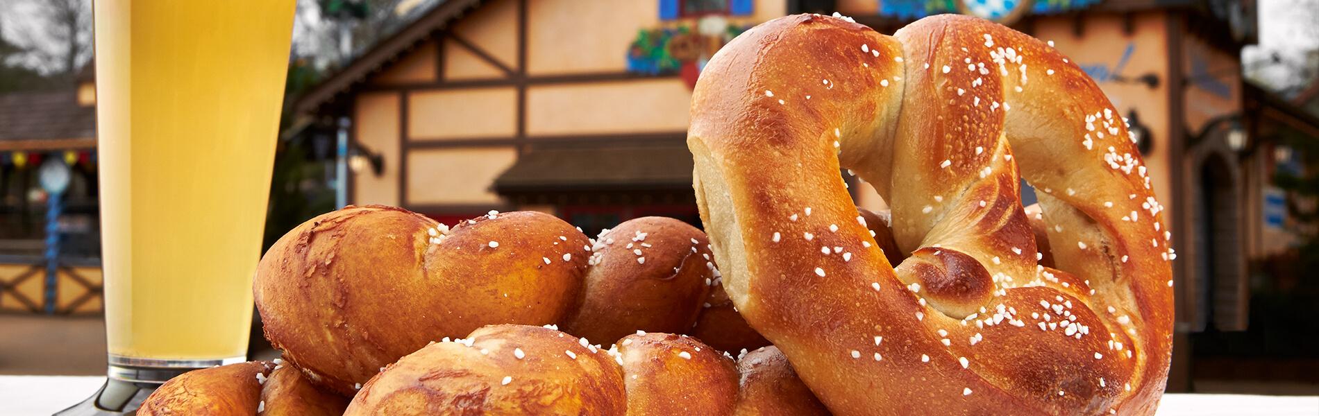 Enjoy hand-rolled pretzels plus a selection of German, craft & seasonal beers.