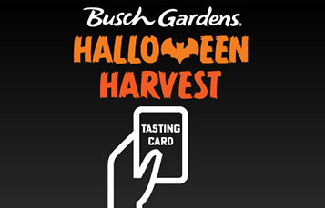 Get your tasting card for the Busch Gardens Halloween Harvest