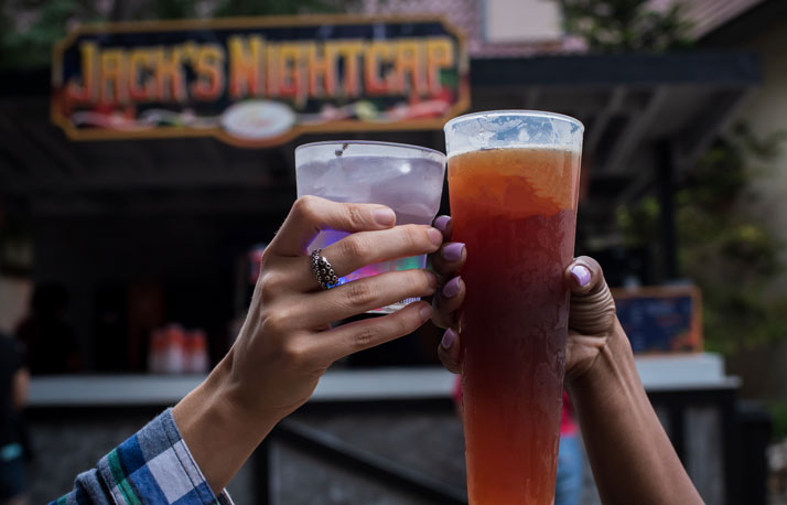 Mixed Drinks at Jack's Night Cap