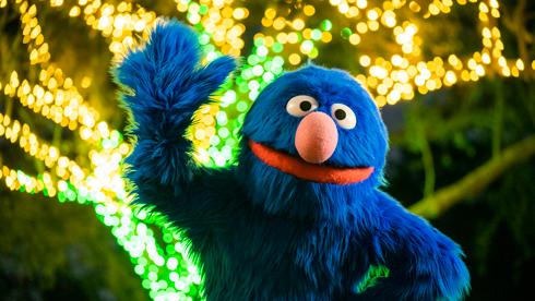 Grover at Christmas Celebration