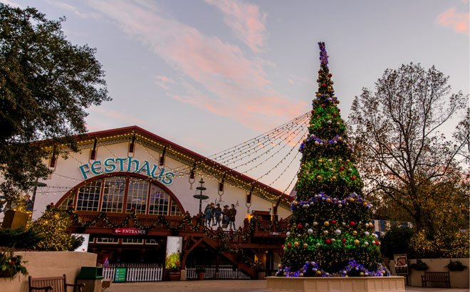 Daytime at Busch Gardens Christmas Celebration