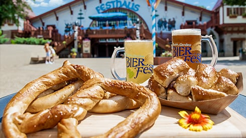 Pretzels and Brews outside of Festhaus