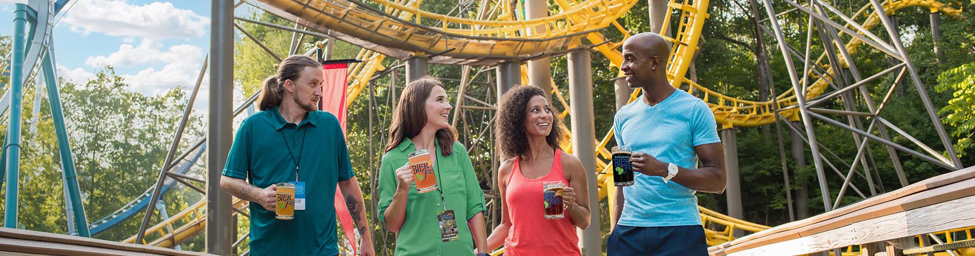 Guests at Busch Gardens' Bier Fest event