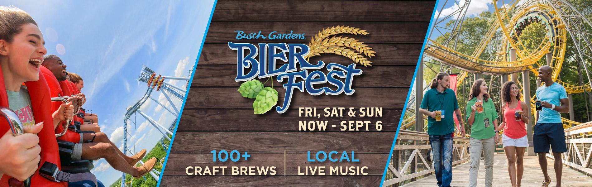 Bier Fest at Busch Gardens Williamsburg features 100+ craft brews and Local Live Music