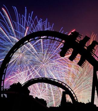 Fireworks at Busch Gardens Bier Fest