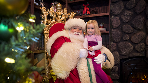 Santa's checking his list at Christmas Town—he can't wait to see you!