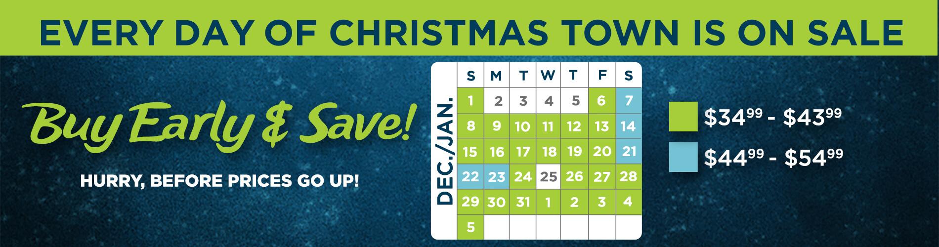 Christmas Town Tickets Calendar