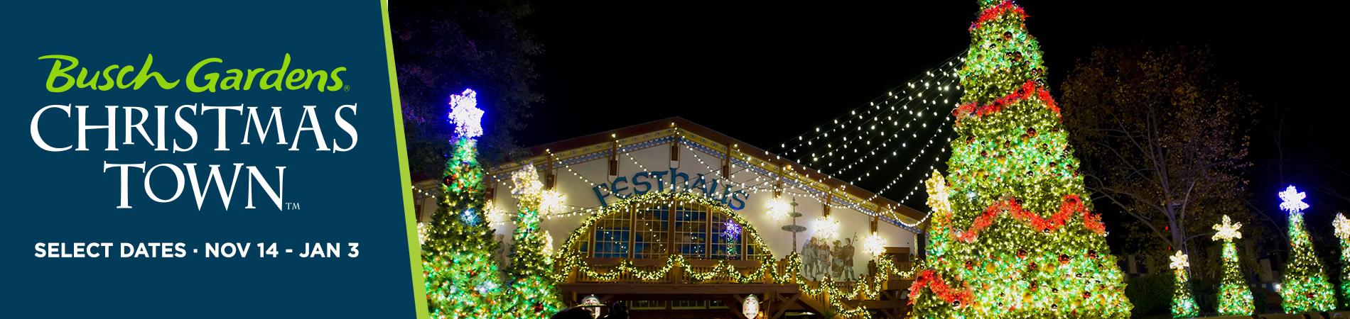 Busch Gardens Williamsburg Christmas Town Holiday Shows!