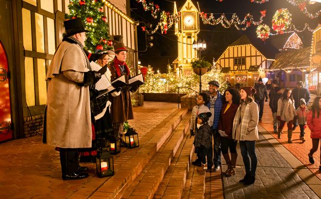 Carolers at Christmas Town