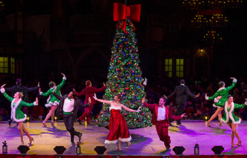 Deck the Halls Christmas show at Busch Gardens
