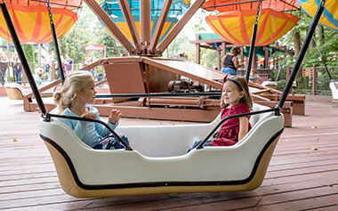 Kid rides at Busch Gardens Williamsburg