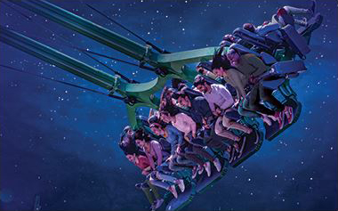 Soar above 10 million lights on all new screamin' swing, Finnegan's Flyer