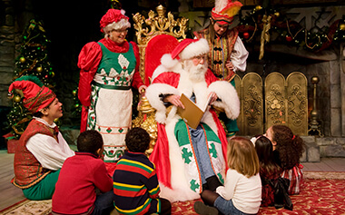 Santa's Fireside Feast is a great family-friendly dining experience during Busch Gardens Christmas Town in Virginia