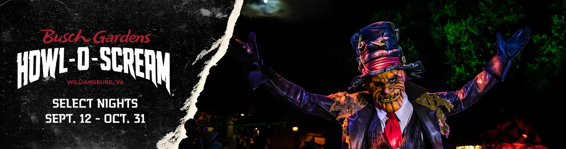 Busch Gardens Williamsburg Howl-O-Scream is Back