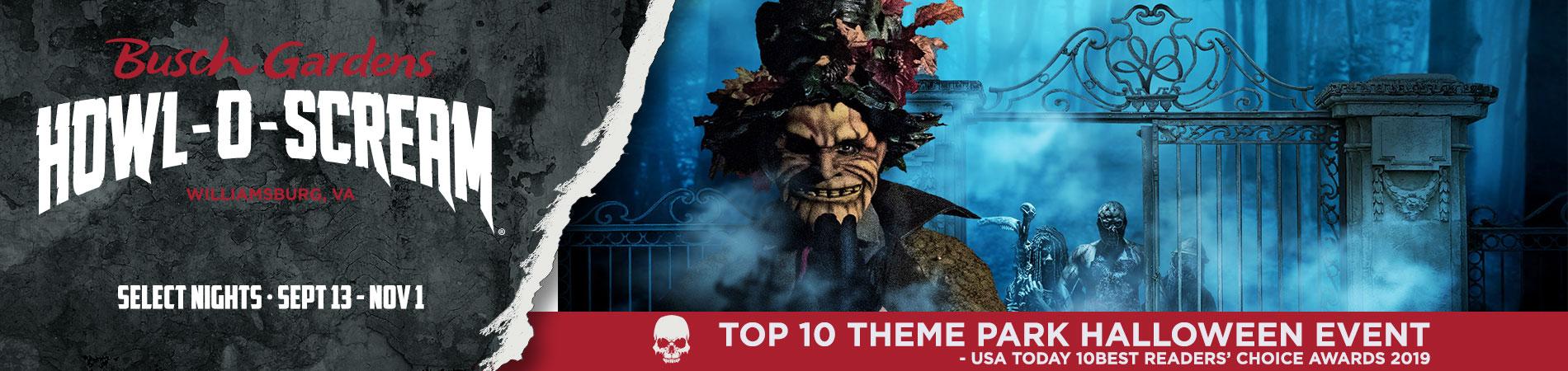 Howl-O-Scream banner textured background