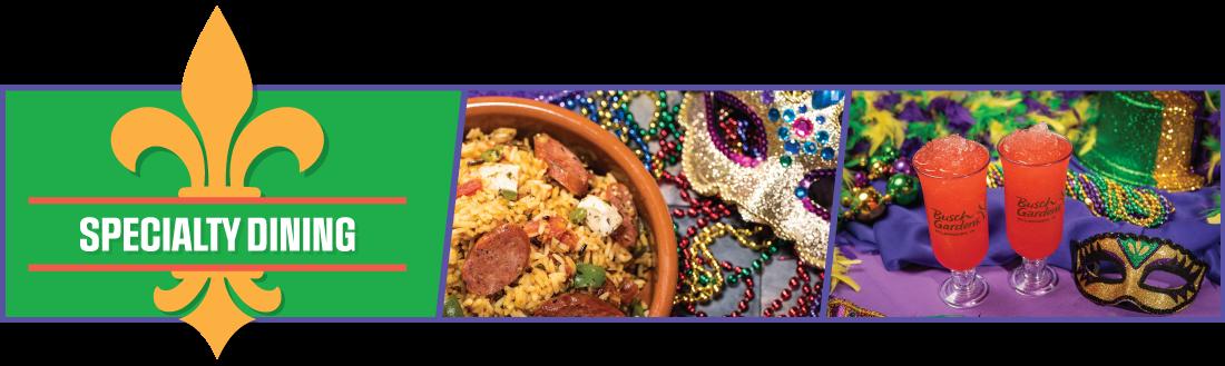 Mardi Gras Food & Beverage Menu